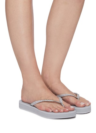 Figure View - Click To Enlarge - HAVAIANAS - 'Shine' Glitter Thong Flatform Sandals