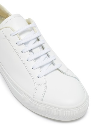 Detail View - Click To Enlarge - COMMON PROJECTS -  ''Retro Low' coloured tab leather sneakers