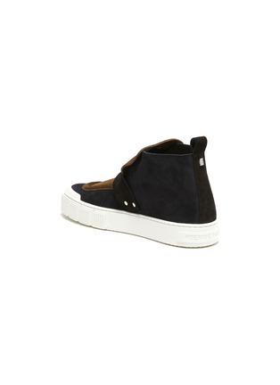 - PIERRE HARDY - Buckle Strap Suede Hi Top Sneakers