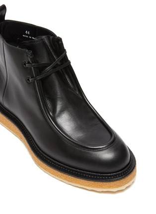 Detail View - Click To Enlarge - PIERRE HARDY - Wallabee Crepe Sole Ankle Boots