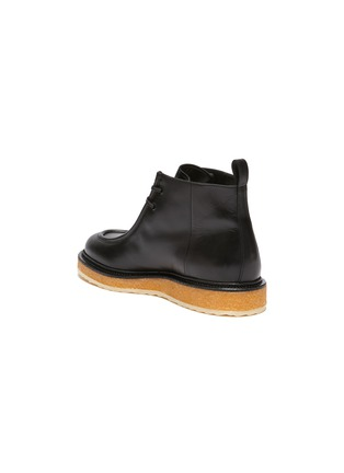 - PIERRE HARDY - Wallabee Crepe Sole Ankle Boots