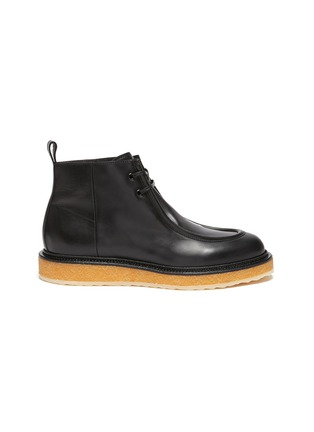 Main View - Click To Enlarge - PIERRE HARDY - Wallabee Crepe Sole Ankle Boots