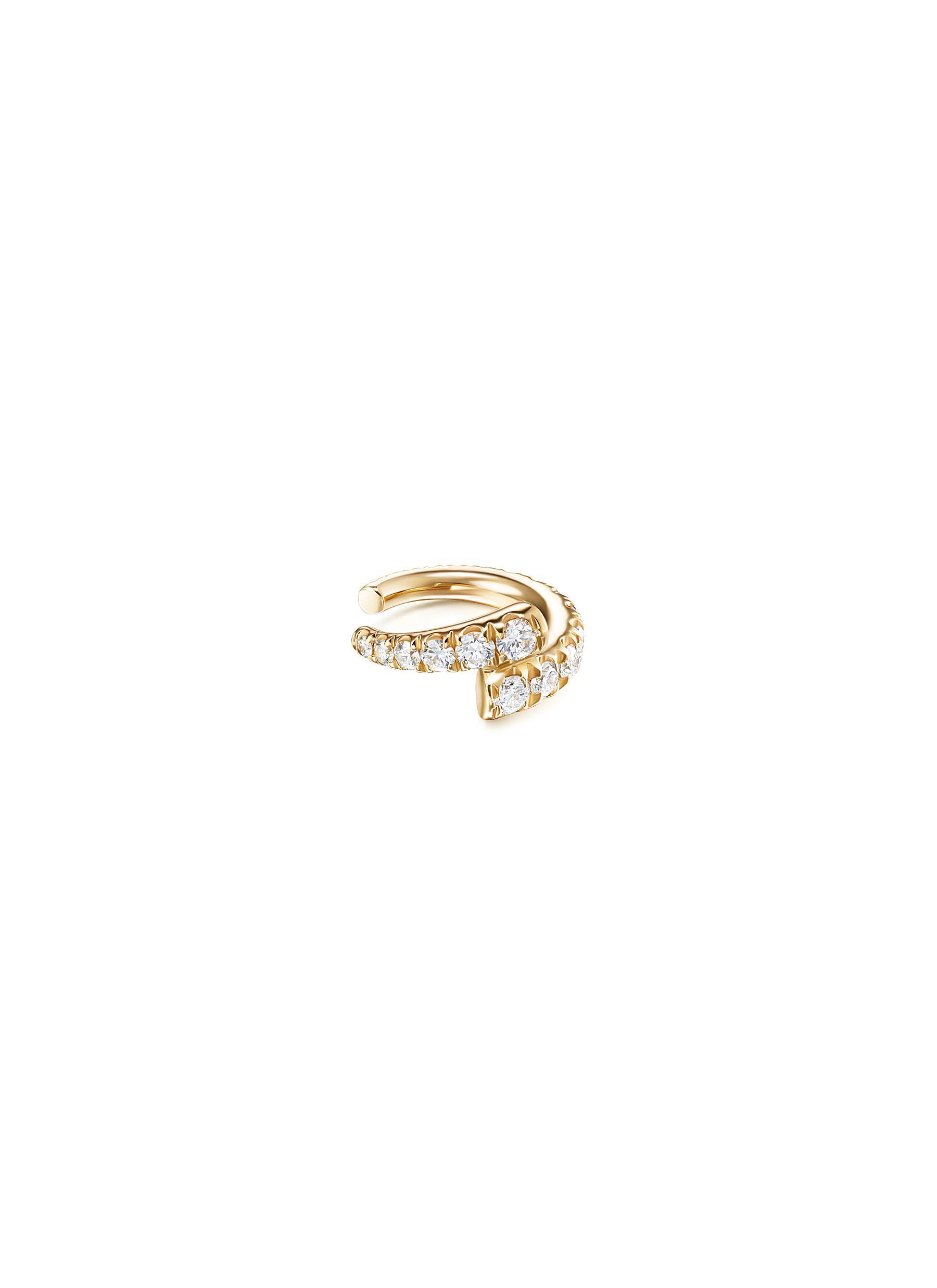 'Lola' Diamond 18k Gold Double Band Ear Cuff