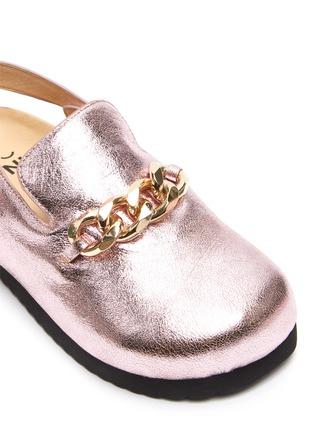 Detail View - Click To Enlarge - WINK - 'Custard' Horsebit Detail Slingback Kids Metallic Leather Sandals