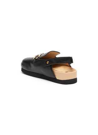 Figure View - Click To Enlarge - WINK - 'Custard' Horsebit Detail Slingback Kids Leather Sandals