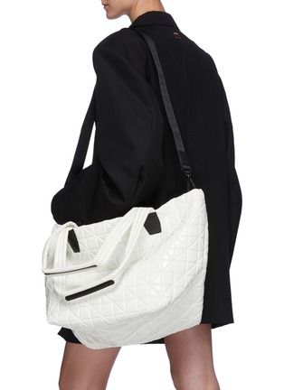 Front View - Click To Enlarge - VEECOLLECTIVE - 'Vee Tote' top handle medium nylon tote bag