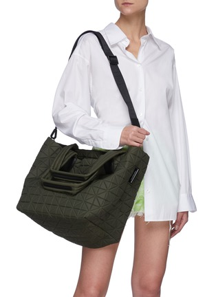 Front View - Click To Enlarge - VEECOLLECTIVE - Vee Tote' Recycled Nylon Medium Tote