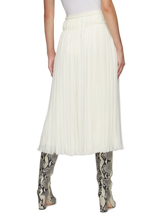 Back View - Click To Enlarge - CHLOÉ - Pleated Wool Midi Skirt