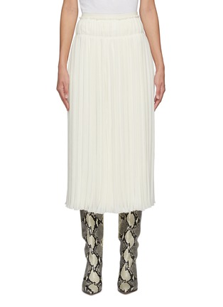 Main View - Click To Enlarge - CHLOÉ - Pleated Wool Midi Skirt