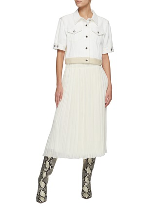 Figure View - Click To Enlarge - CHLOÉ - Pleated Wool Midi Skirt