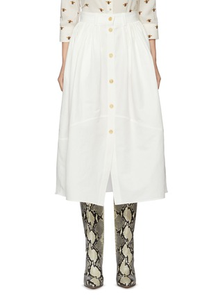 Main View - Click To Enlarge - CHLOÉ - Button front canvas midi skirt