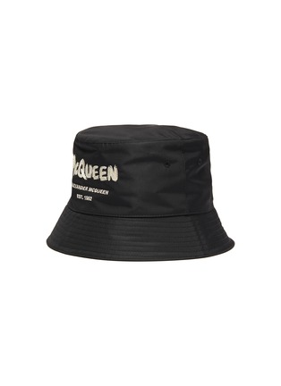 Main View - Click To Enlarge - ALEXANDER MCQUEEN - Graffiti Logo Embroidered Bucket Hat