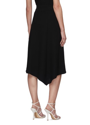 Back View - Click To Enlarge - THEORY - Handkerchief Hem Rib Waistband Midi skirt
