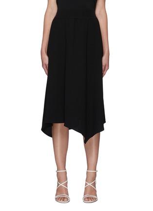 Main View - Click To Enlarge - THEORY - Handkerchief Hem Rib Waistband Midi skirt