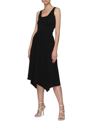 Figure View - Click To Enlarge - THEORY - Handkerchief Hem Rib Waistband Midi skirt