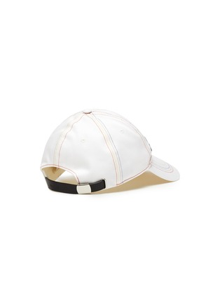 Figure View - Click To Enlarge - ALEXANDER MCQUEEN - Rainbow Topstitch Logo Embroidered Cap