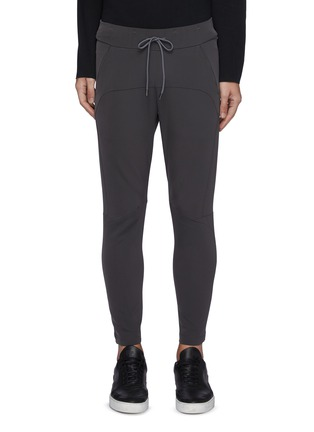 Main View - Click To Enlarge - ATTACHMENT - Slim Fit Drawstring Double Face Biker Easy Pants