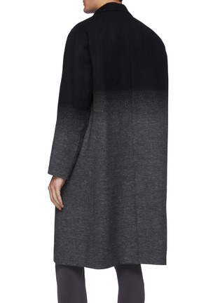 Back View - Click To Enlarge - ATTACHMENT - Single Breasted Wool Cashmere Faded Contrast Long Coat