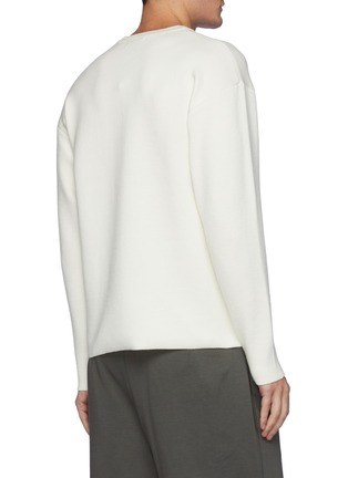 Back View - Click To Enlarge - ATTACHMENT - Double Face Wool Knit Crewneck Pullover