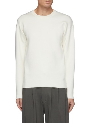 Main View - Click To Enlarge - ATTACHMENT - Double Face Wool Knit Crewneck Pullover