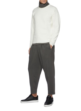 Figure View - Click To Enlarge - ATTACHMENT - Double Face Wool Knit Crewneck Pullover
