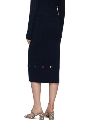 Back View - Click To Enlarge - STAUD - 'Hunter' cable knit midi skirt