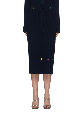 Main View - Click To Enlarge - STAUD - 'Hunter' cable knit midi skirt