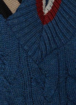 - KOLOR - Asymmetric Cable Wool Knit Sweater