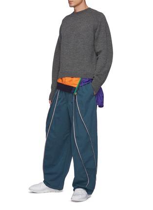 Figure View - Click To Enlarge - KOLOR - Windbreaker Hem Wool Sweater