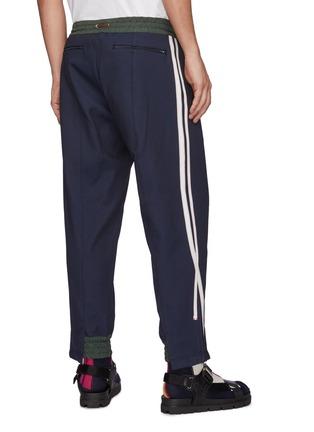 Back View - Click To Enlarge - KOLOR - Deconstructed Side Striped Drawstring Jogger Pants