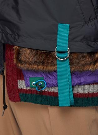 - KOLOR - Asymmetric Knitted Hem Button Up Nylon Jacket