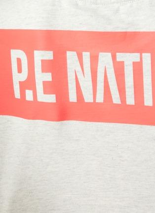 - P.E NATION - 'Trailblazer' Logo Print Crop T-shirt