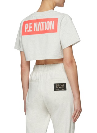 Back View - Click To Enlarge - P.E NATION - 'Trailblazer' Logo Print Crop T-shirt