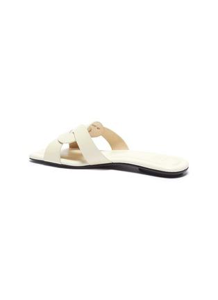- PEDDER RED - Cameron' loop croc embossed leather slide sandals