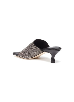 - PEDDER RED - 'Astrid' Crystal Encrusted Band Square Toe Heeled Sandals