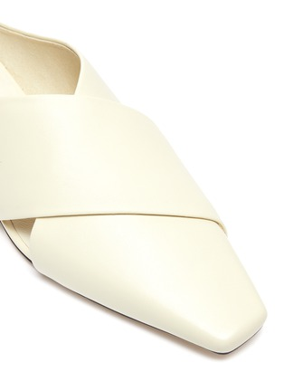 Detail View - Click To Enlarge - PEDDER RED - 'Joey' square toe layered leather slides