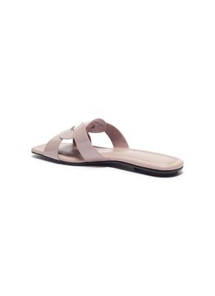 - PEDDER RED - Cameron' loop patent leather slide sandals