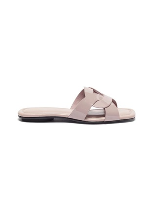 Main View - Click To Enlarge - PEDDER RED - Cameron' loop patent leather slide sandals