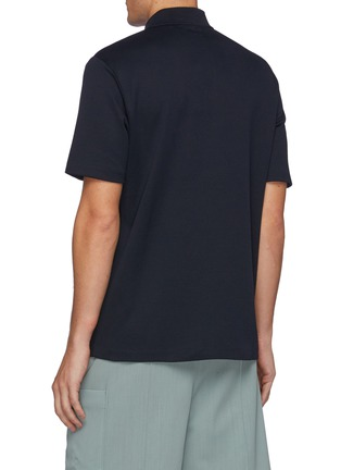Back View - Click To Enlarge - THEORY - Coleson' Striped Cotton Polo Shirt