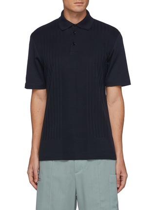 Main View - Click To Enlarge - THEORY - Coleson' Striped Cotton Polo Shirt
