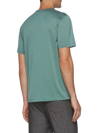 Back View - Click To Enlarge - THEORY - Precise' Luxe Cotton Crewneck T-shirt