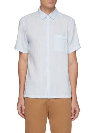 Main View - Click To Enlarge - THEORY - 'Irving' linen shirt