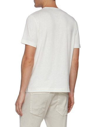 Back View - Click To Enlarge - THEORY - Keen' Linen Blend Crewneck T-shirt