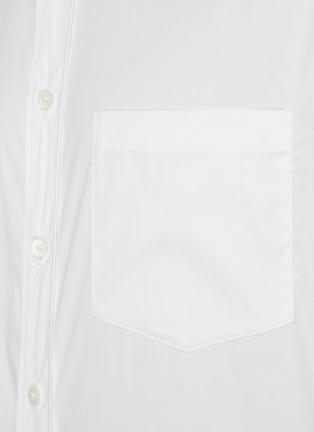 - THEORY - 'Noll' mandarin collar shirt