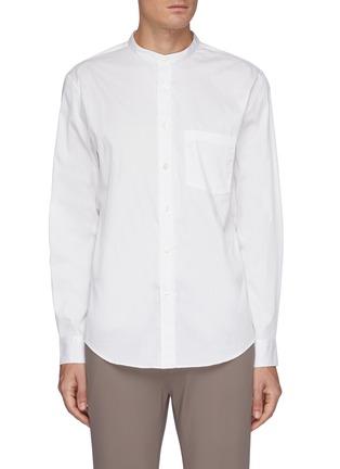 Main View - Click To Enlarge - THEORY - 'Noll' mandarin collar shirt