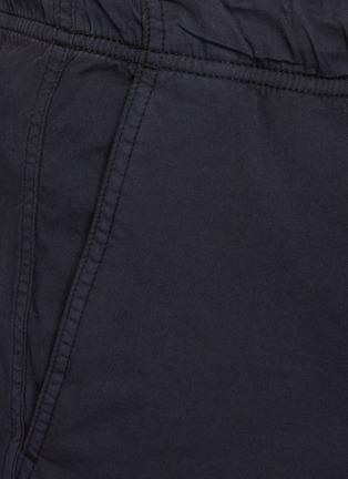 - THEORY - Norton' Contrast Drawstring Waist Cotton Blend Shorts