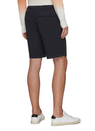 Back View - Click To Enlarge - THEORY - Norton' Contrast Drawstring Waist Cotton Blend Shorts