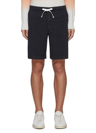 Main View - Click To Enlarge - THEORY - Norton' Contrast Drawstring Waist Cotton Blend Shorts