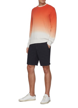 Figure View - Click To Enlarge - THEORY - Norton' Contrast Drawstring Waist Cotton Blend Shorts