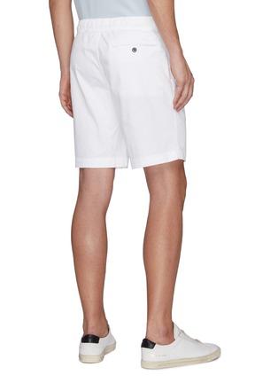Back View - Click To Enlarge - THEORY - 'Norton' drawstring waist shorts